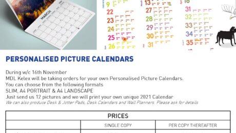 MDL KELEX Personalised Calendars 2021